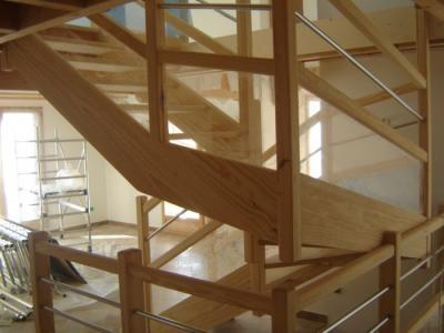 escalier moderne plexiglas