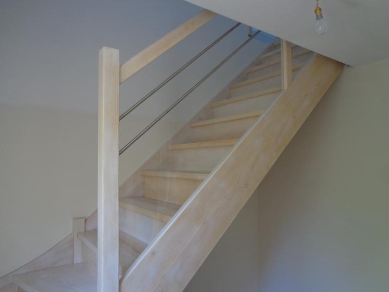 escalier frêne blanchi