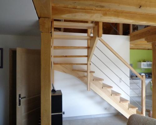 escaliers quart tournant