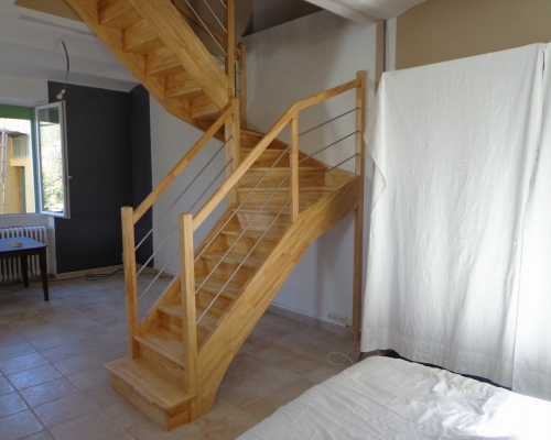 escaliers demi tournant