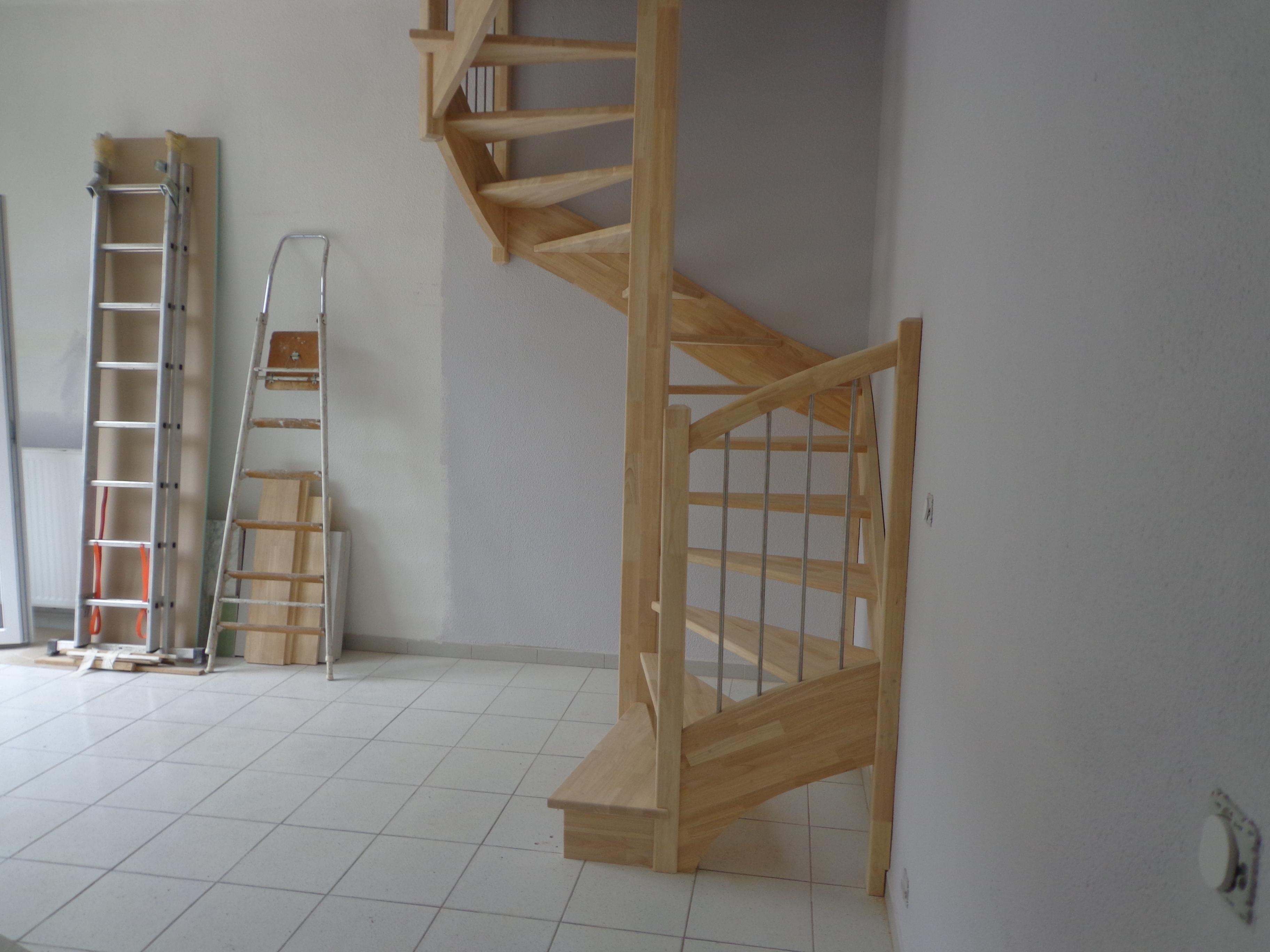 escaliers en s, spirale carré, 3 quart tournant