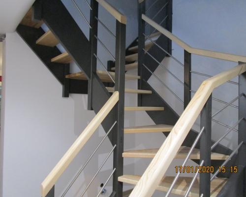 Escalier en S peint