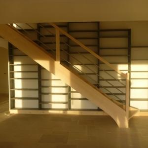 Fabrication escalier en bois sur mesure al s gard 30 for Escalier pas japonais tournant
