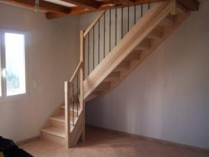 escalier bois gard frene
