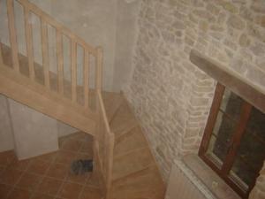 escalier 1/4 tournant chêne