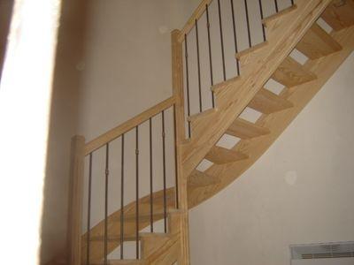 escalier 1/4 tournant à l'anglaise pin de caroline