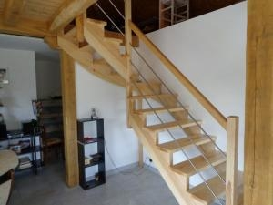 escalier 1/4 tournant à crémaillère