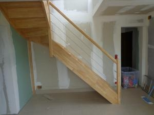 escalier à cables inox
