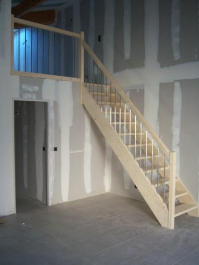 echelle meuniere ou escalier droit