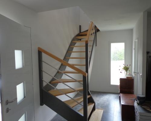 escalier cruviers en hévéa moderne