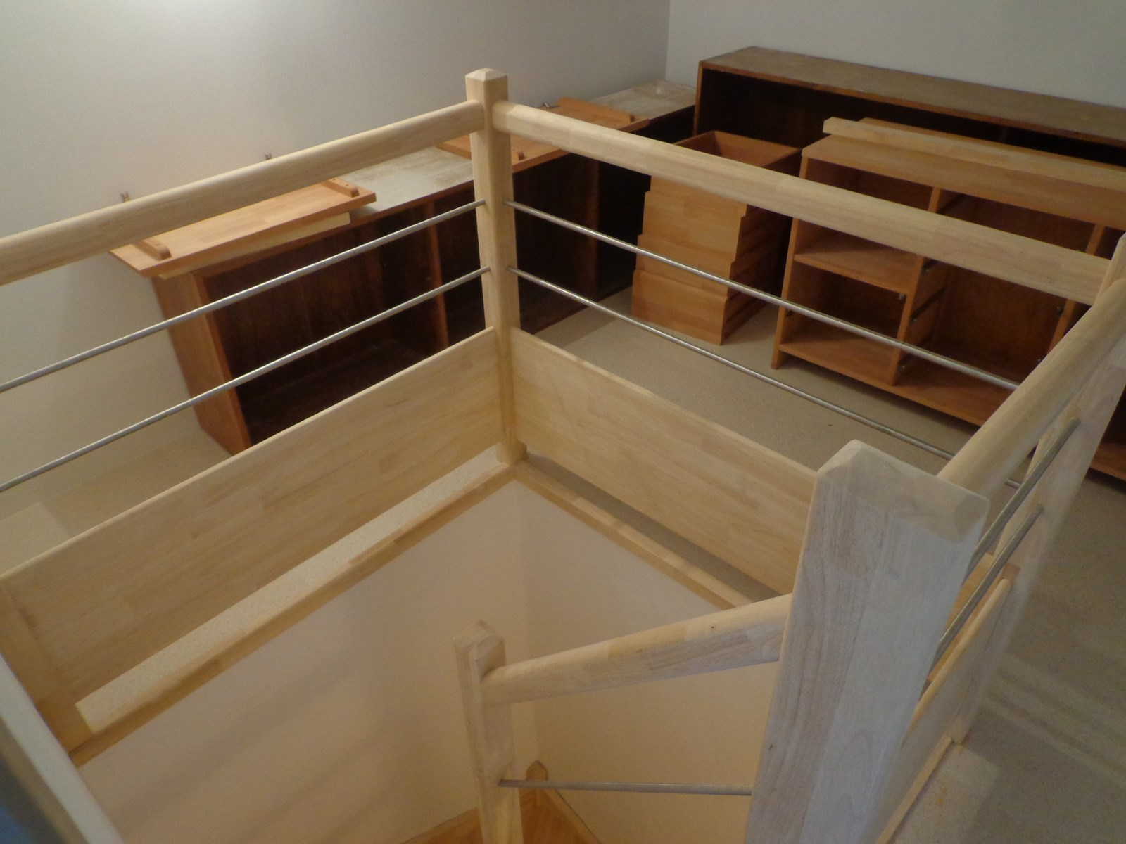 installation garde corps remplissage bois tube inox al s gard uz s nimes. Black Bedroom Furniture Sets. Home Design Ideas